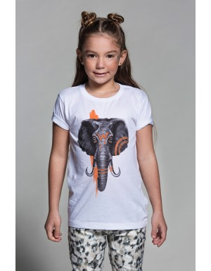Camiseta Elephant  (White)
