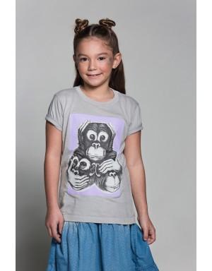 Camiseta Tres Monos (Púrpura)