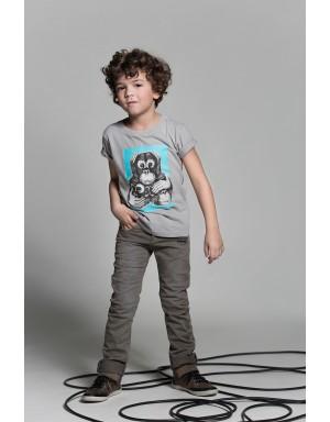 Camiseta Tres Monos (Azul)