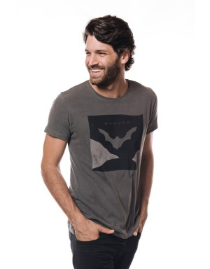 Camiseta Bat Art (Cinza)