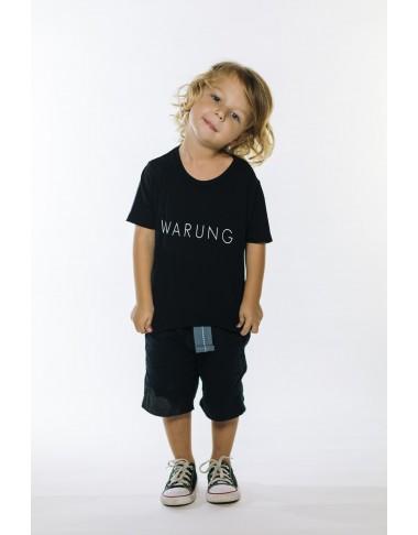 Camiseta Warung Brand (Black) KIDS